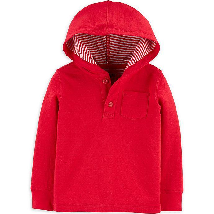Alternate image 1 for OshKosh B'gosh® Hooded Long Sleeve Top