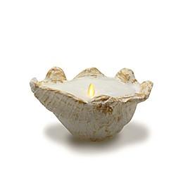 Luminara® Clam Seashell 8.27-Inch Pillar Candle in Natural