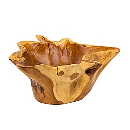 Global Caravan™ Handcrafted Teak Decorative Bowl