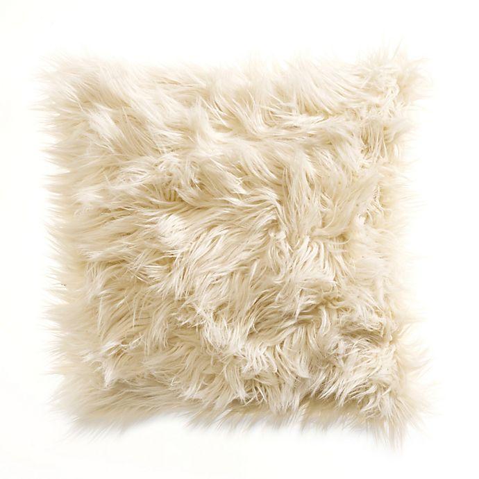 Alternate image 1 for Kenneth Cole Reaction Home Landscape Faux-Fur Square Toss Pillow