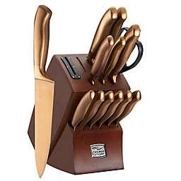 Chicago Cutlery® Insignia Steel 14-Piece Matte Bronze Knife Block Set