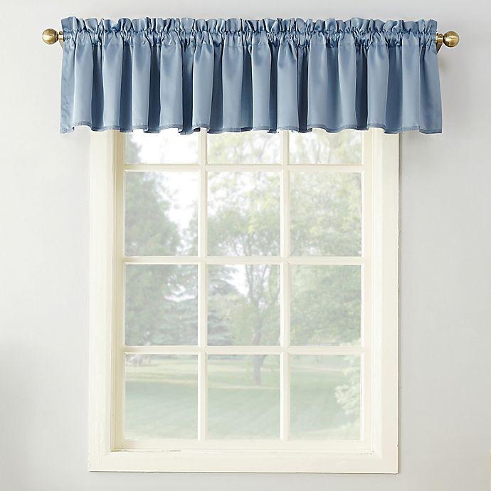 Alternate image 1 for Sun Zero® Bella 18-Inch Rod Pocket Room Darkening Curtain Valance