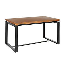 LumiSource® Drift Dining Table in Weathered Walnut/Black