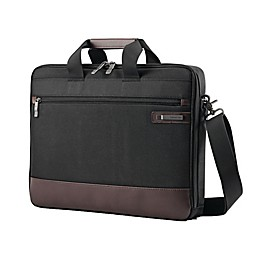 Samsonite® Kombi 16-Inch Slim Briefcase in Black/Brown