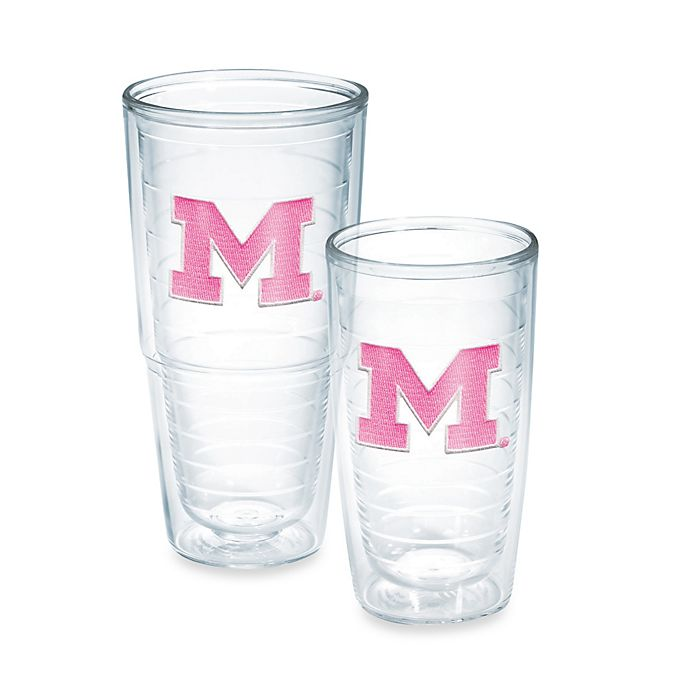 Alternate image 1 for Tervis® University of Michigan Wolverines Emblem Tumbler in Neon Pink
