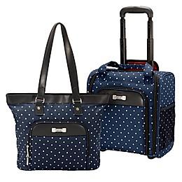 Geoffrey Beene Fashion Dot 2-Piece Underseat Luggage Set