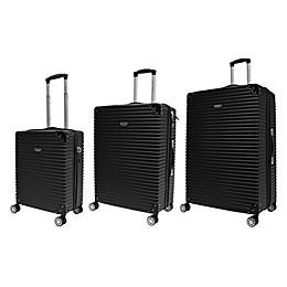 Adrienne Vittadini 3-Piece Hardcase Trunk Luggage Set