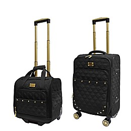Adrienne Vittadini Geo Quilted 2-Piece Carry On Luggage Set