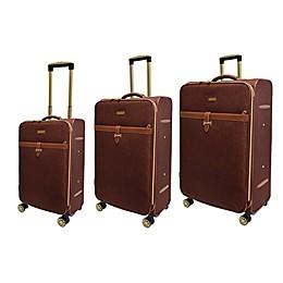 Adrienne Vittadini Two-Tone 3-Piece Softsided Spinner Luggage Set