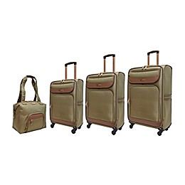 Adrienne Vittadini Diamond Quilted 4-Piece Softside Spinner Luggage Set