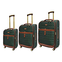 Adrienne Vittadini Square Quilted 3-Piece Softside Spinner Luggage Set