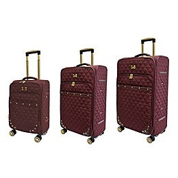 Adrienne Vittadini Geo Quilted 3-Piece Softside Spinner Luggage Set