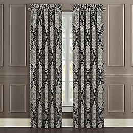 J. Queen New York™ Vera 84-Inch Rod Pocket Window Curtain Panel Pair in Black