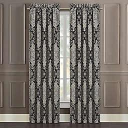 J. Queen New York™ Vera 84-Inch Rod Pocket Window Curtain Panel Pair in Black