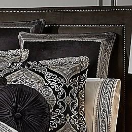 J. Queen New York™ Vera European Pillow Sham in Black