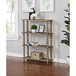 Bee & Willow™ Home Spindle Bookcase in Grey Wash