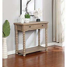 Bee & Willow™ Home Spindle Console Table in Grey Wash