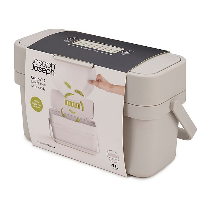 Alternate image 1 for Joseph Joseph® Compo™ 4 Food Waste Caddy in White