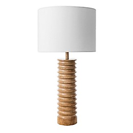 nuLOOM Andromeda Wood Spiral Table Lamp