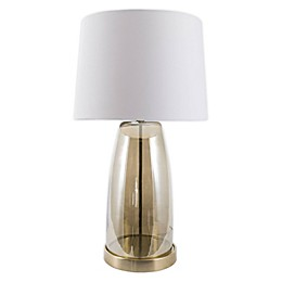 nuLOOM Vivian Glass Table Lamp with Cotton Shade