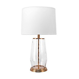 nuLOOM Rodney Glass Vase Table Lamp in Copper with Cotton Shade