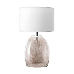 nuLOOM Glass Bell Table Lamp in Amber with Cotton Shade