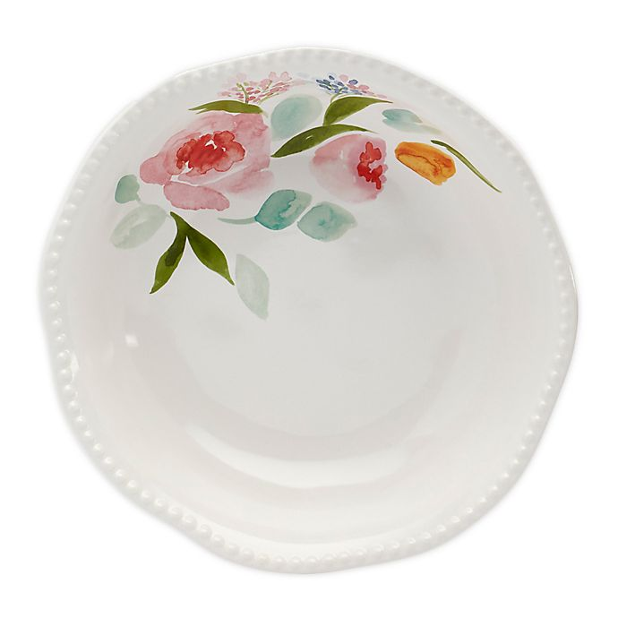 Alternate image 1 for Modern Farmhouse Home Floral Serving Bowl