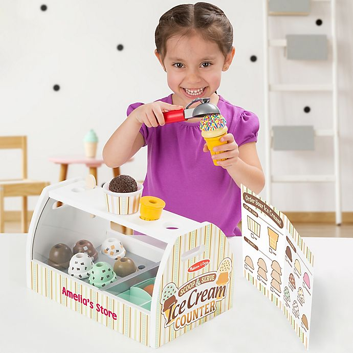 Alternate image 1 for Melissa & Doug® Personalized Scoop & Serve Ice Cream Counter