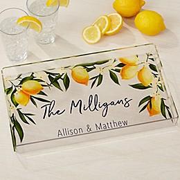 Lovely Lemons Personalized Acrylic Serving Tray