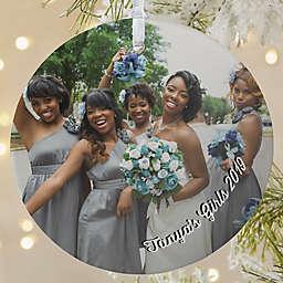 Wedding Photo Memories 3.75-Inch Matte Personalized Ornament