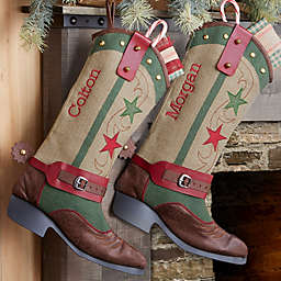 Cowboy Boot Personalized Christmas Stocking