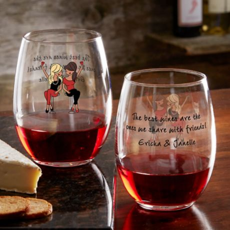 Best Friend Wine Lover Philosophie S Personalized Stemless Wine Glass Bed Bath Beyond