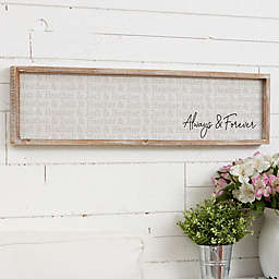 Couples Repeating Name Personalized 30-Inch x 8-Inch Barnwood Frame Wall Art