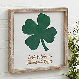Luck Of The Irish Personalized 12-Inch Square Barnwood Frame Wall Art