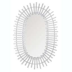 Safavieh Valory 16-Inch x 24-Inch Oval Mirror in Silver