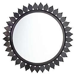 Safavieh Nally 21-Inch Round Mirror in Black