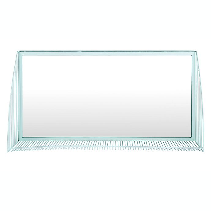 Alternate image 1 for Safavieh Henly 36-Inch x 18-Inch Rectangular Mirror in Teal