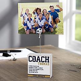 #1 Coach Personalized Photo Clip Holder Block