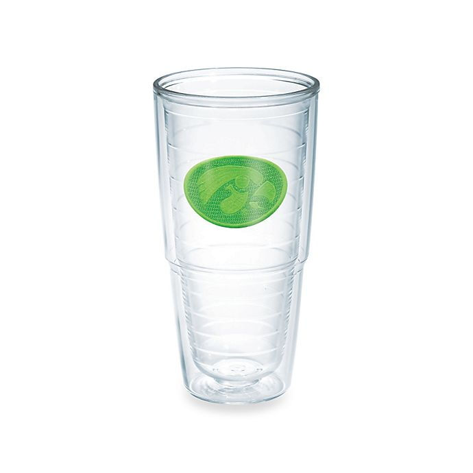 Alternate image 1 for Tervis® University of Iowa Hawkeyes 24 oz. Emblem Tumbler in Neon Green