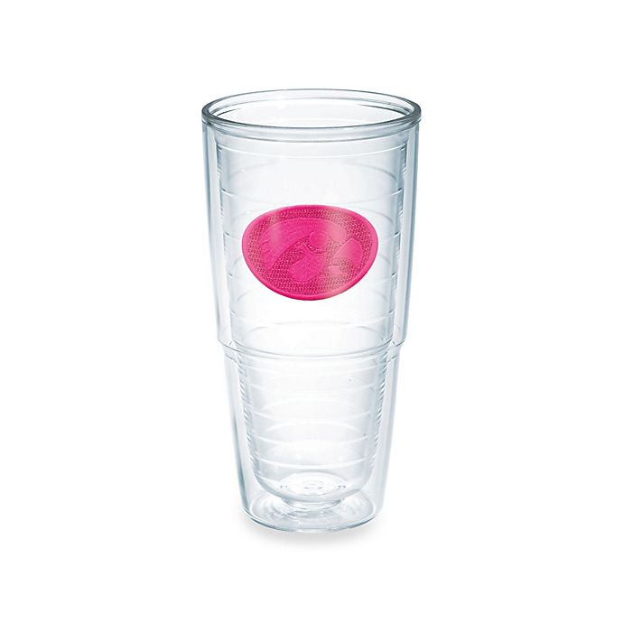Alternate image 1 for Tervis® University of Iowa Hawkeyes 24 oz. Emblem Tumbler in Neon Pink