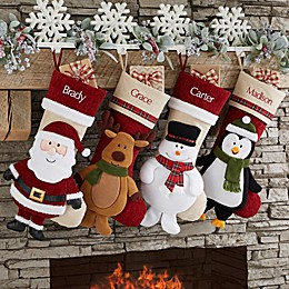 Snowman Cheerful Holiday Personalized Christmas Stocking