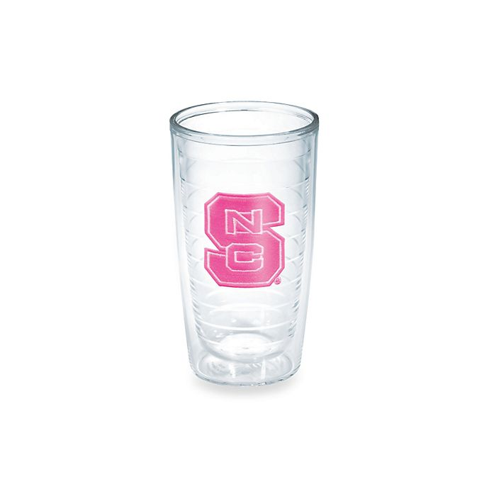 Alternate image 1 for Tervis® North Carolina State University Wolfpack 16-Ounce Emblem Tumbler in Neon Pink