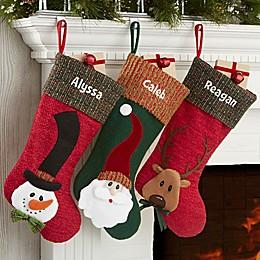 Santa Whimsical Hat Personalized Christmas Stocking