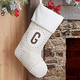 Stitched Monogram Personalized Christmas Stocking Collection