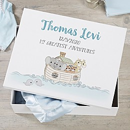 Precious Moments® Personalized Noah's Ark Baby Keepsake Memory Box Collection