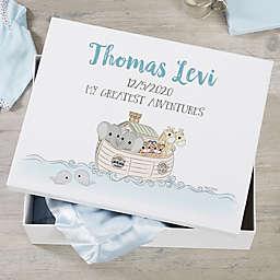 Precious Moments® Personalized Noah's Ark Baby Keepsake Memory Box Collection