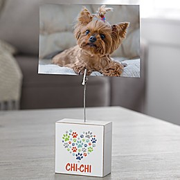 Paws On My Heart Personalized Dog Photo Clip Holder