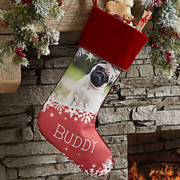 Snowflake Pet Personalized Christmas Photo Stocking Collection