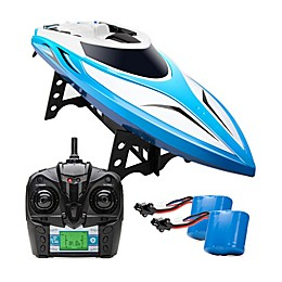 Force1 Velocity Remote Control Speed Boat in Blue