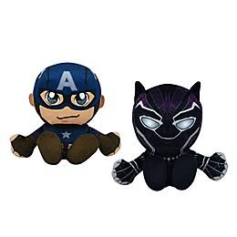 Bleacher Creatures™ Marvel® Black Panther and Captain America Kuricha Bundle